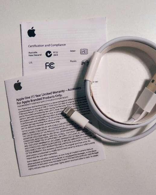 Imagen producto Cable iPhone original Garantía 1año 2