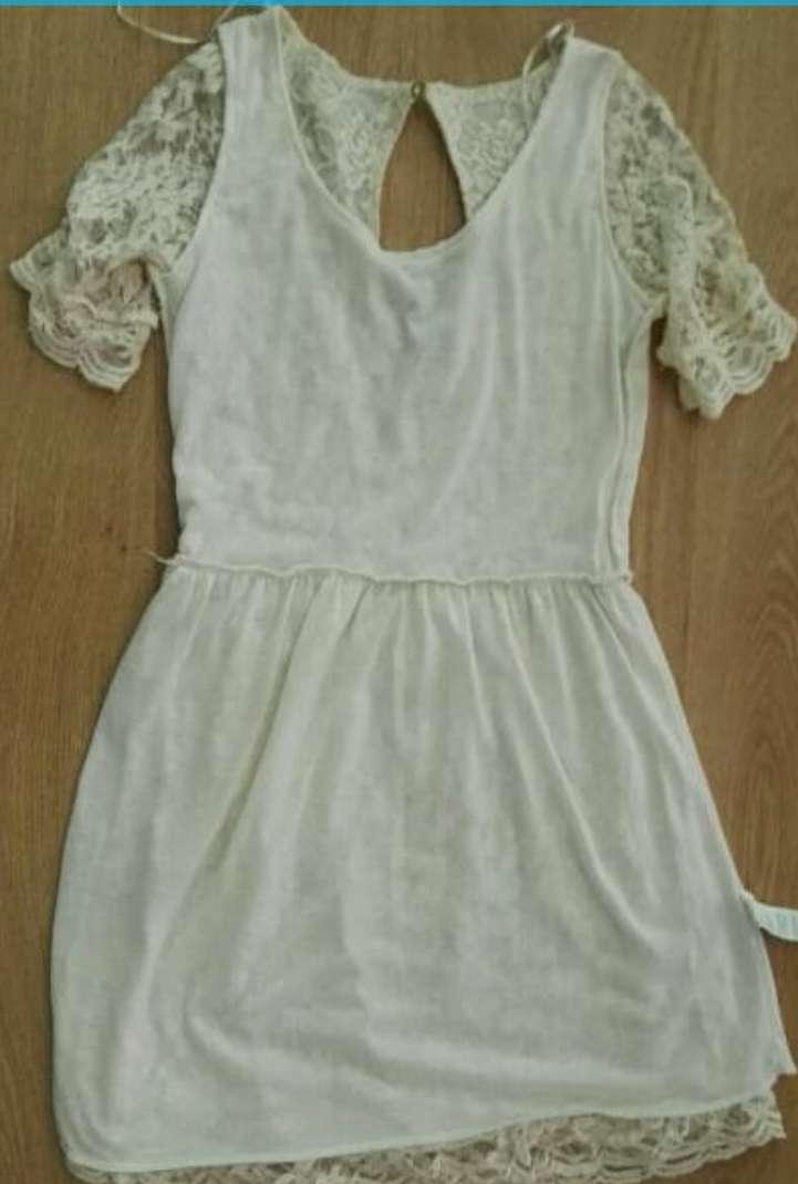 Imagen producto Vestido beige encaje S 3