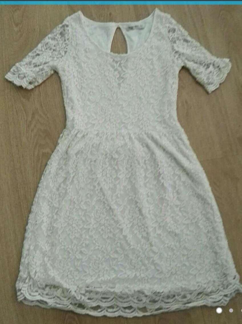 Imagen Vestido beige encaje S