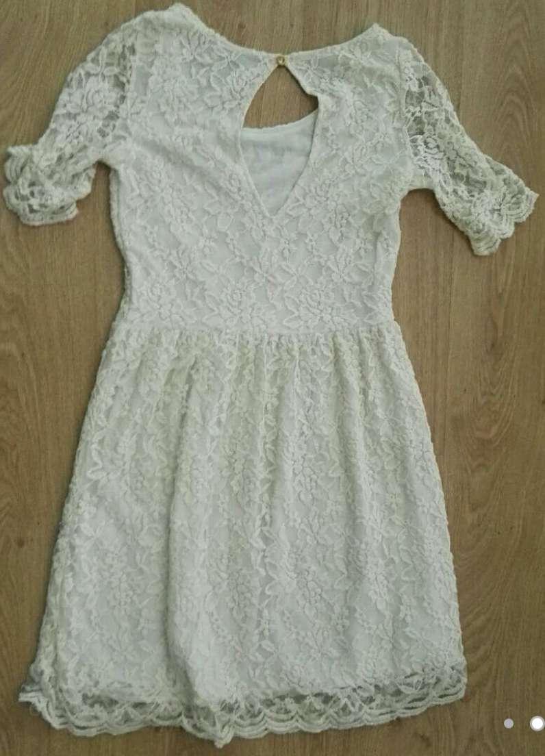 Imagen producto Vestido beige encaje S 2