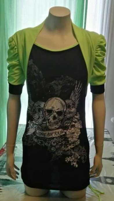 Imagen Camiseta verde neón lentejuelas