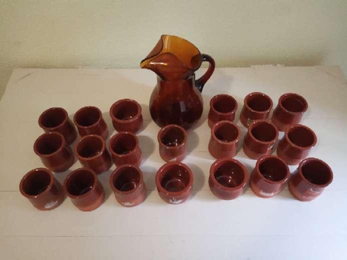 Imagen producto LOTE 20 vasos de cerámica y barro. 2