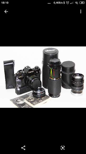 Imagen Equipo de fotografía Canon A1