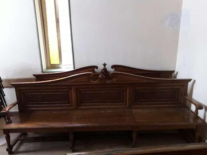 Imagen bancos madera maciza antiguos escucho ofertas