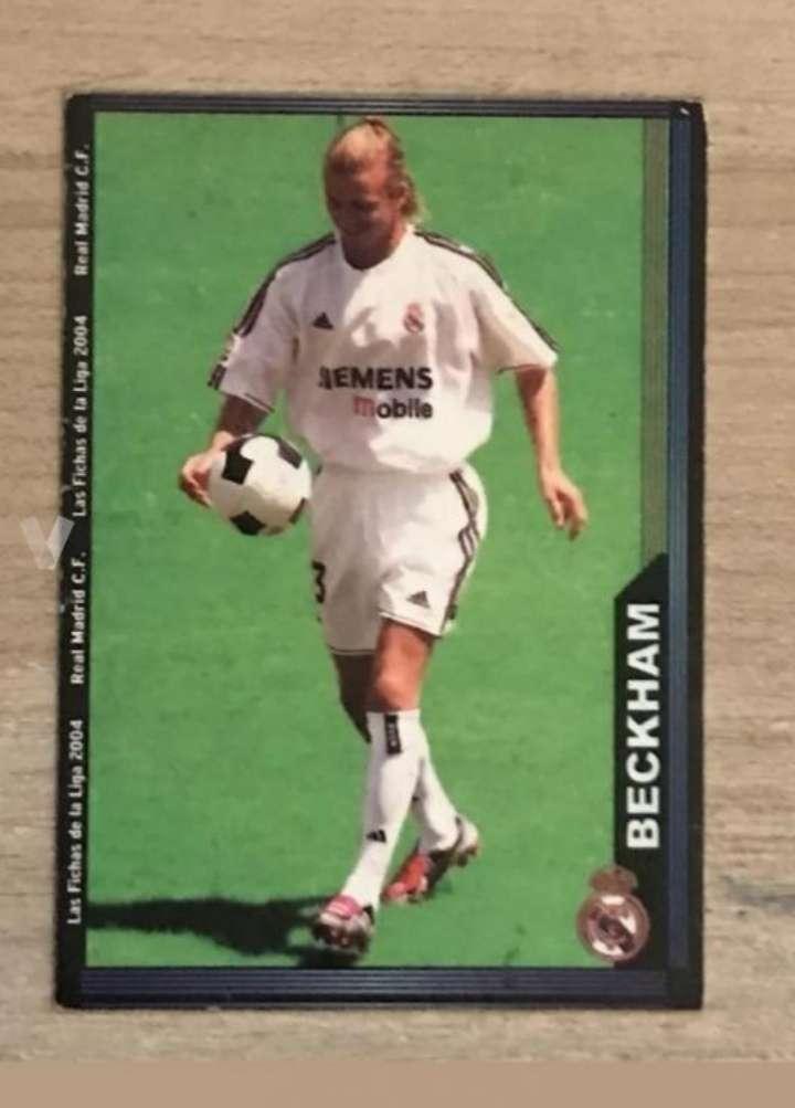 Imagen David Beckham card cromo/nuevo.