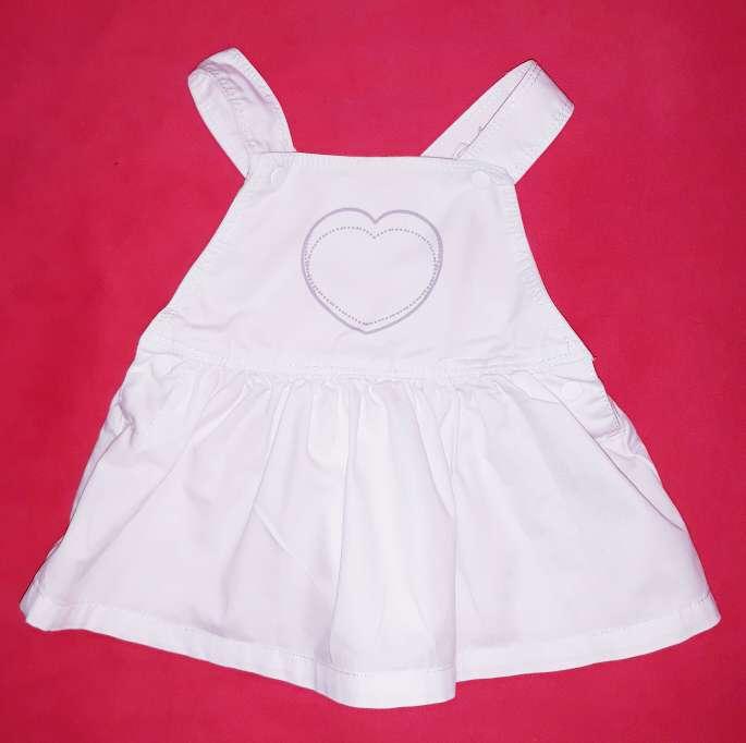 Imagen Vestido bebé blanco, 3m.