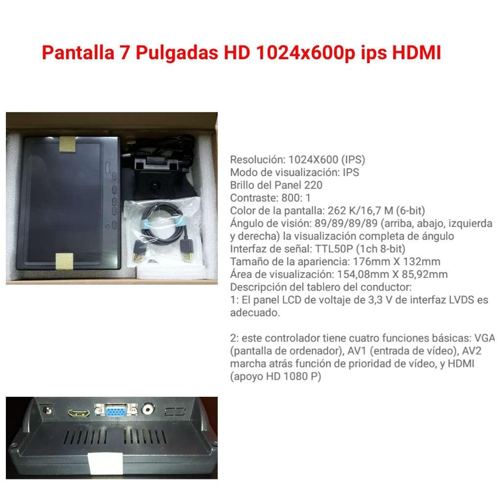 Imagen Pantalla 7-pulgadas HD 1024x600p HDMI IPS
