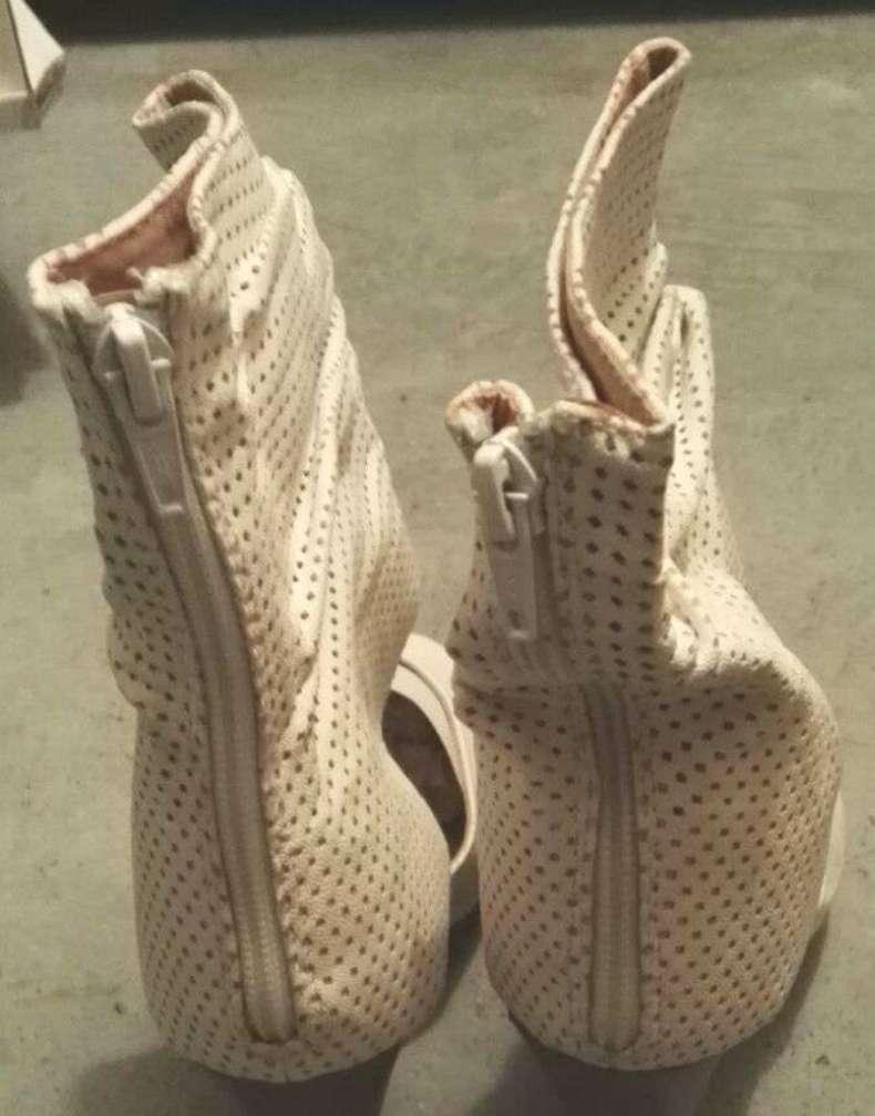 Imagen producto Zapatos botines blancos tacón talla 39 nuevos  4