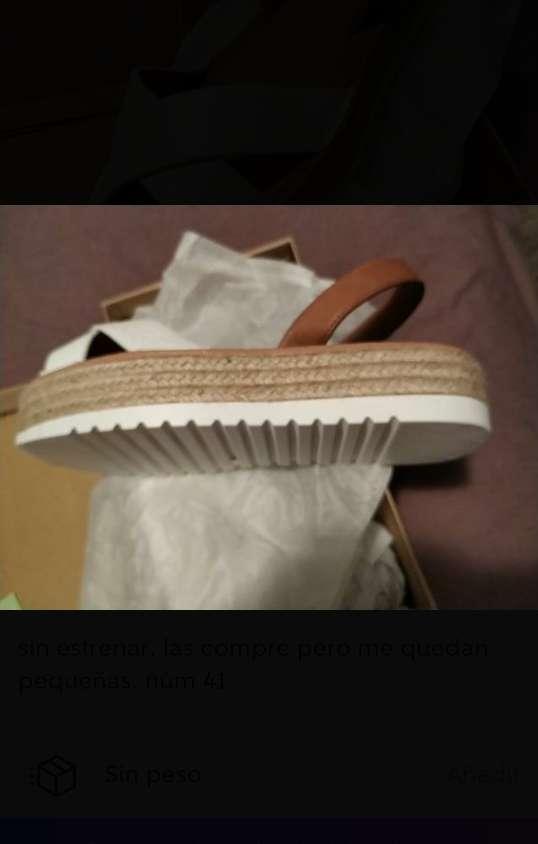 Imagen sandalias menorquinas blancas