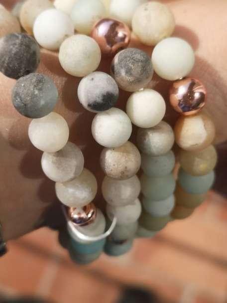 Imagen Pulseras de piedra amazonita