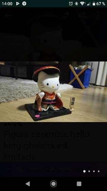 Imagen producto Figura cerámica hello kitty gheisha ed. limitada 2