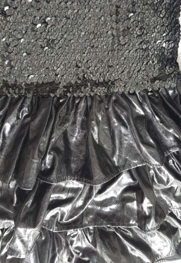 Imagen producto Vestido negro lentejuelas M nuevo  2