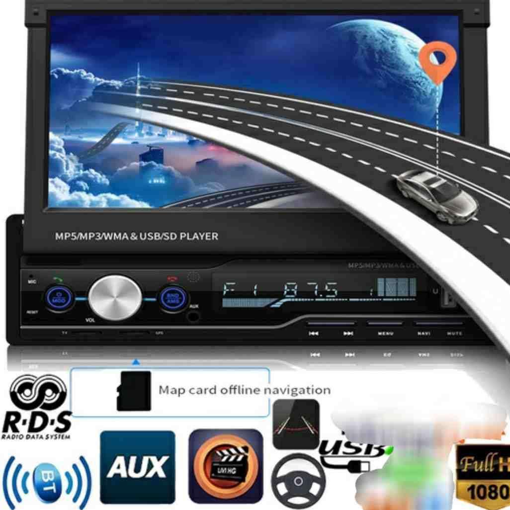 Imagen radio multimedia pantalla HD 7 táctil con cámara trasera