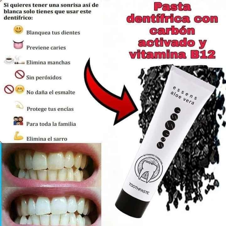 Imagen producto Pasta dentífrica con carbón activo y vitamina B12  1
