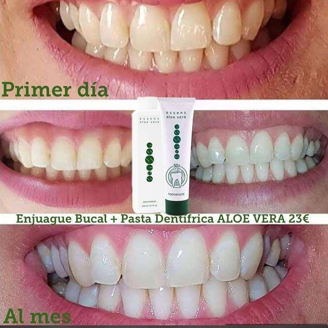 Imagen Pasta dentífrica de aloe vera + Enjuague bucal de aloe vera