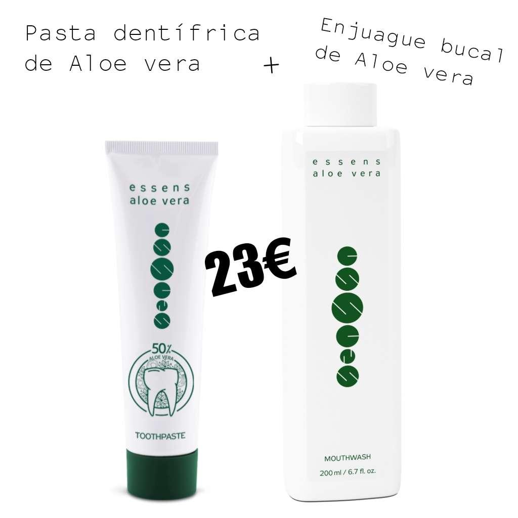 Imagen producto Pasta dentífrica de aloe vera + Enjuague bucal de aloe vera  2