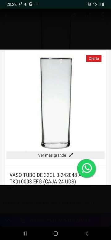 Imagen caja 24 vasos tubo a estreno
