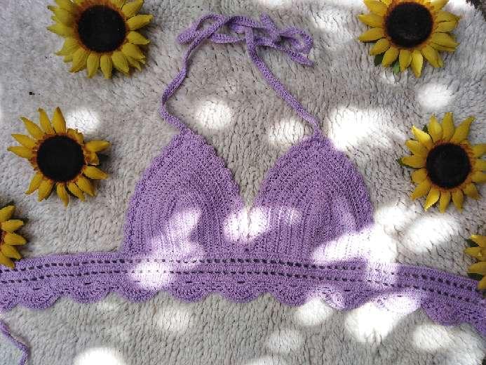 Imagen producto Top / bikini tejido a mano  3