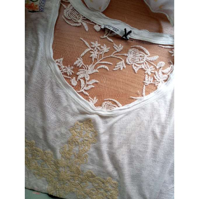 Imagen producto Camiseta bordada de mangas cortas 1