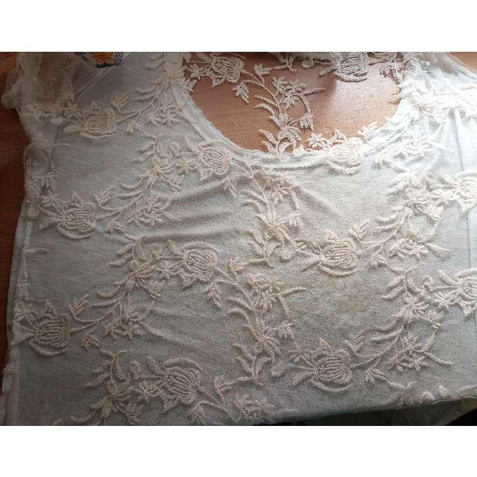 Imagen producto Camiseta bordada de mangas cortas 2