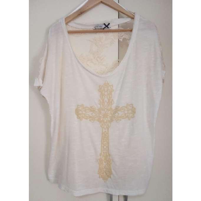 Imagen producto Camiseta bordada de mangas cortas 3
