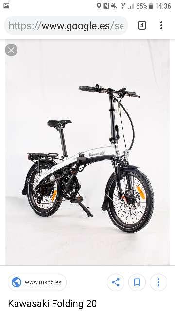 Imagen producto Bicicleta eléctrica plegable Kawasaki totalmente nuev. se entrega en el embalaje  4