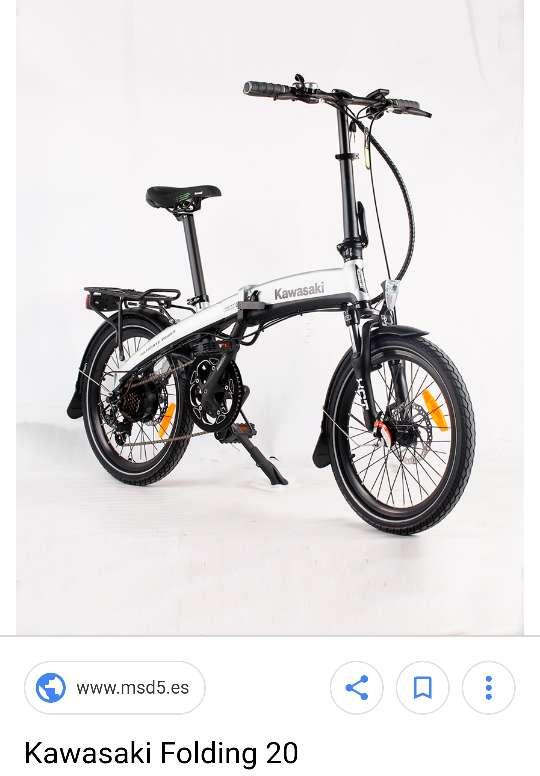 Imagen producto Bicicleta eléctrica plegable Kawasaki totalmente nuev. se entrega en el embalaje  2