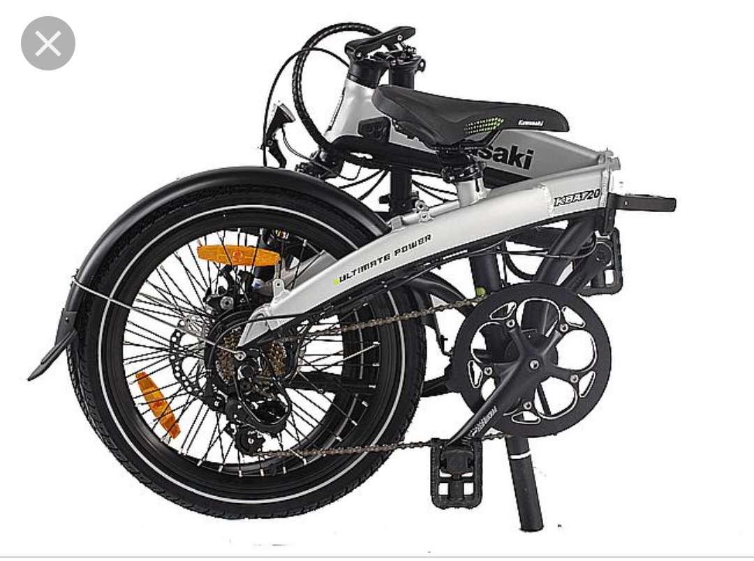 Imagen REBAJA DE PRECIO    Bicicleta eléctrica plegable Kawasaki totalmente nuev. se entrega en el embalaje