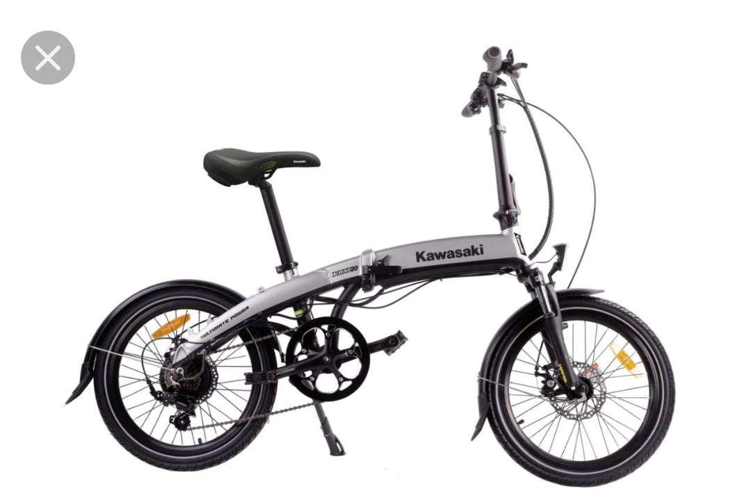 Imagen producto Bicicleta eléctrica plegable Kawasaki totalmente nuev. se entrega en el embalaje  3
