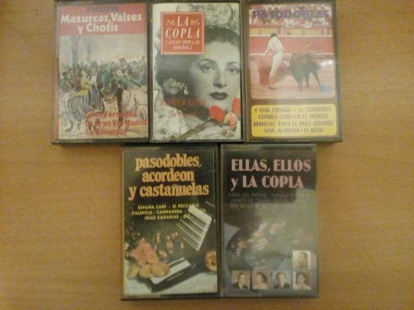Imagen Cintas de cassette.Pasodobles,coplas,chotis.