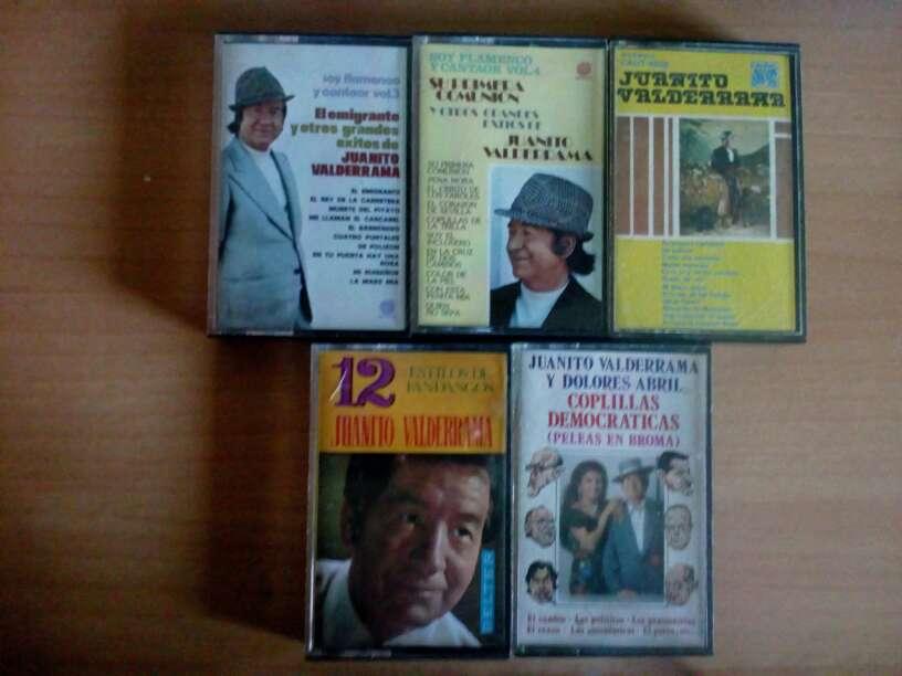 Imagen Cintas de cassette Juanito Valderama ,pack 5