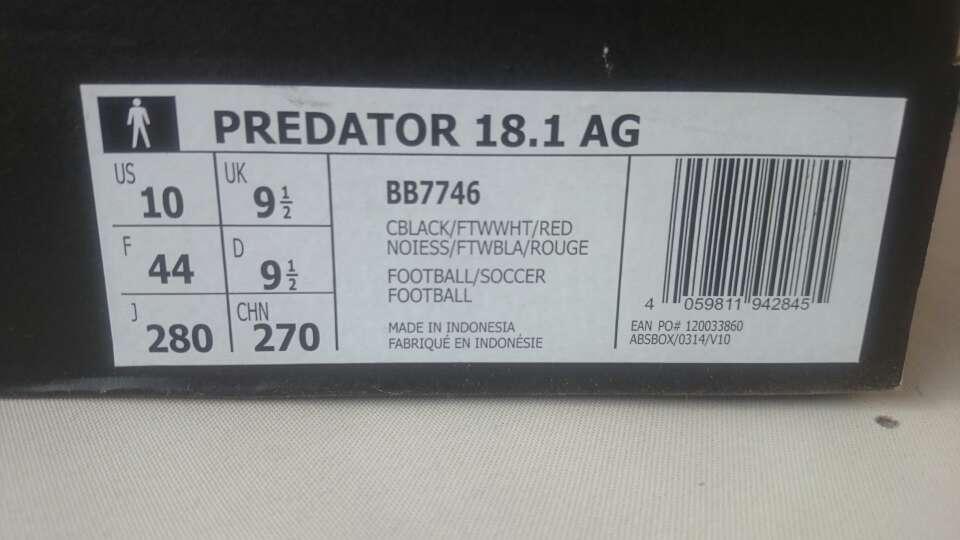 Imagen producto Botas futbol Adidas Predator 18.1 ag talla 44 6