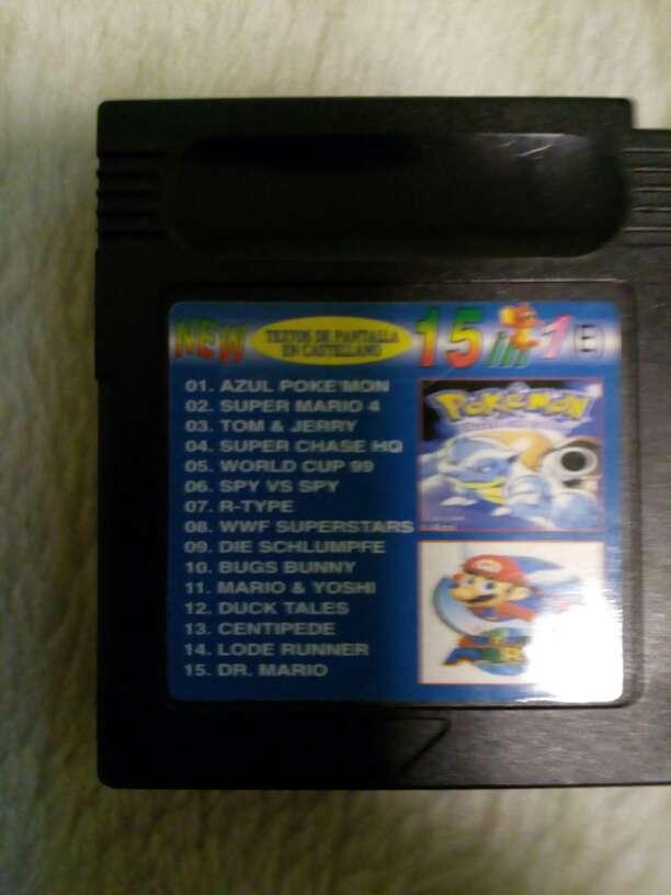 Imagen Juegos Game boy 15 juegos en 1 Azul
