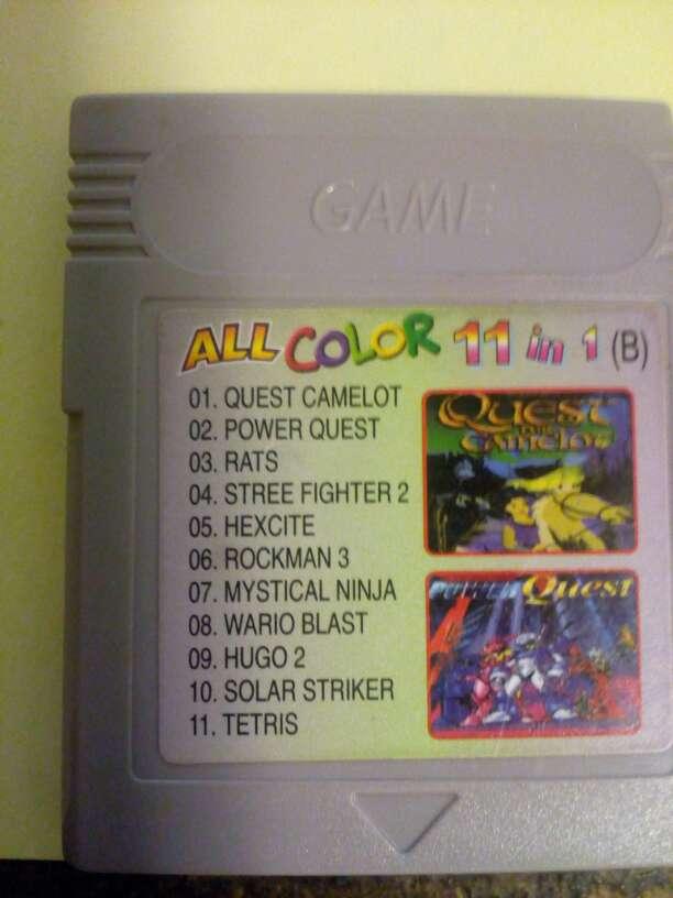 Imagen Juegos Game boy color 11 en 1