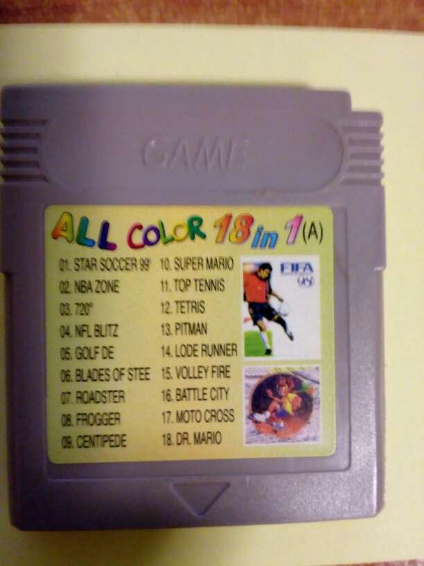 Imagen Juegos Game boy color 18 Juegos en uno