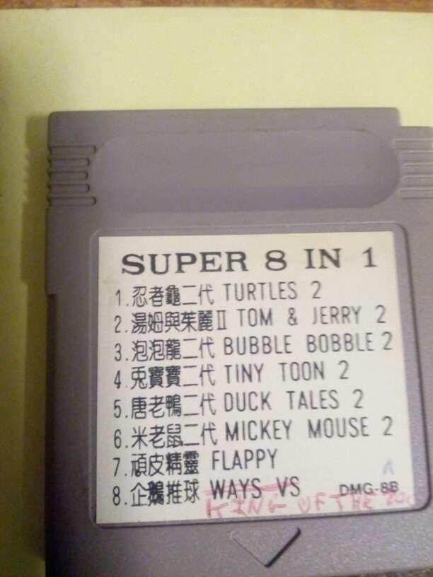 Imagen Juegos Game boy 8 juegos en 1 Vol 2