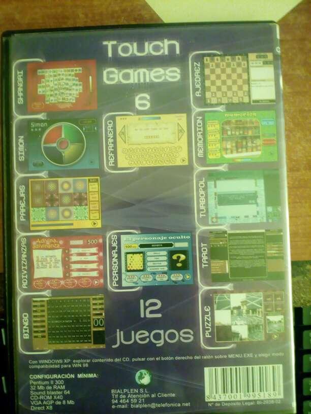 Imagen Touch games pc 12 juegos Vol 6
