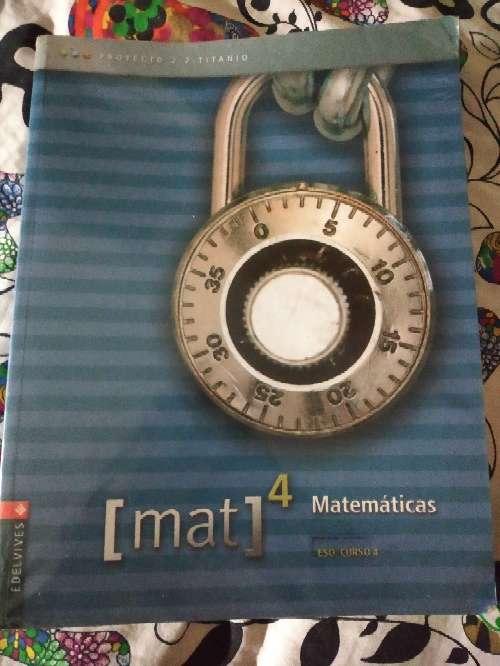 Imagen libro de matemáticas 4°ESO