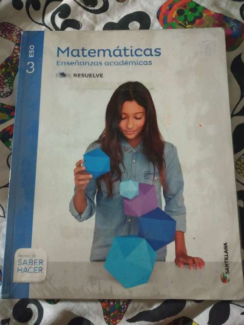 Imagen Libro de matemáticas 3°ESO