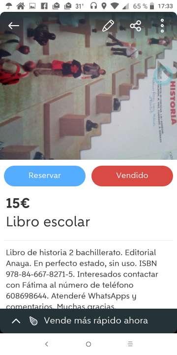 Imagen Libros de segunda mano para Bachillerato.