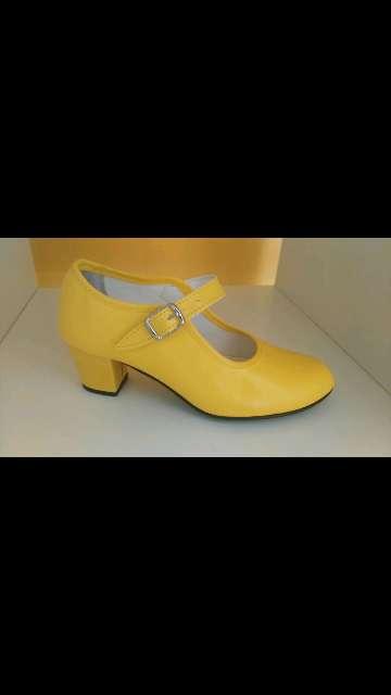 Imagen tacón flamenca amarillo