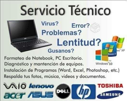Imagen Formateo y servicio tecnico informático