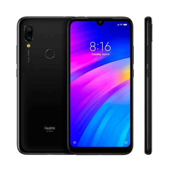 Imagen xiaomi redmi 7 negro eclipse movil  dual sim 6'26'' hd+/8core/64gb/3gb ram/12mp+2mp/8mp