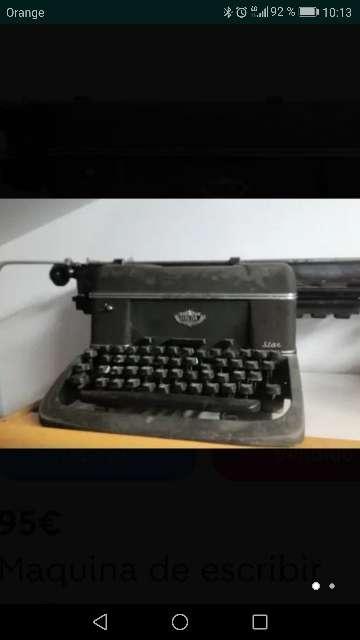 Imagen antigua máquina de escribir