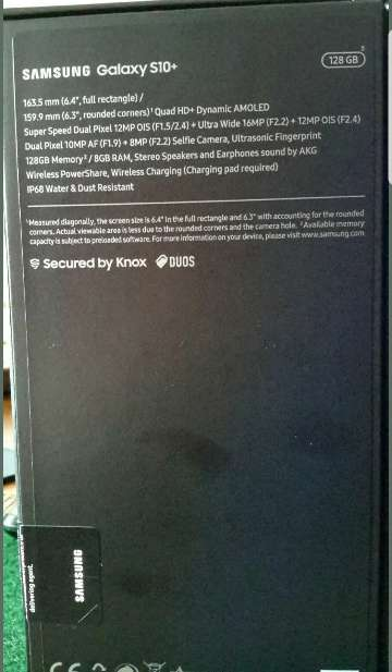 Imagen producto Samsung galasy s10 plus prins black 128g 4