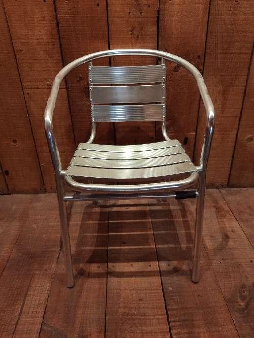 Imagen sillas de aluminio de bar exterior