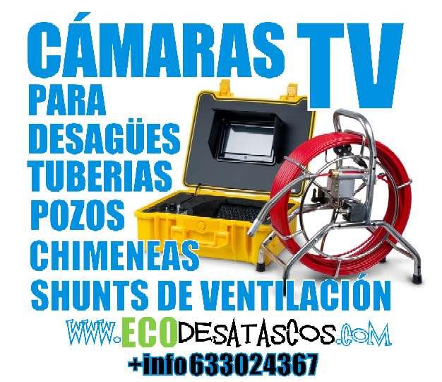 Imagen producto Inspección de tuberias con cámara de TV. Localización de roturas, atascos y anidaciones en chimeneas o desagües. 2