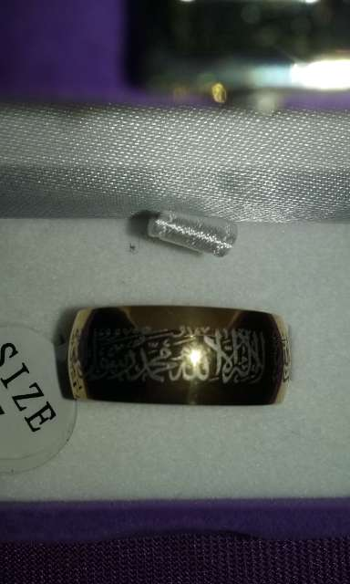 Imagen producto Anillo shahada plateado talla 9 acepto paypal y transferencia bancaria 6