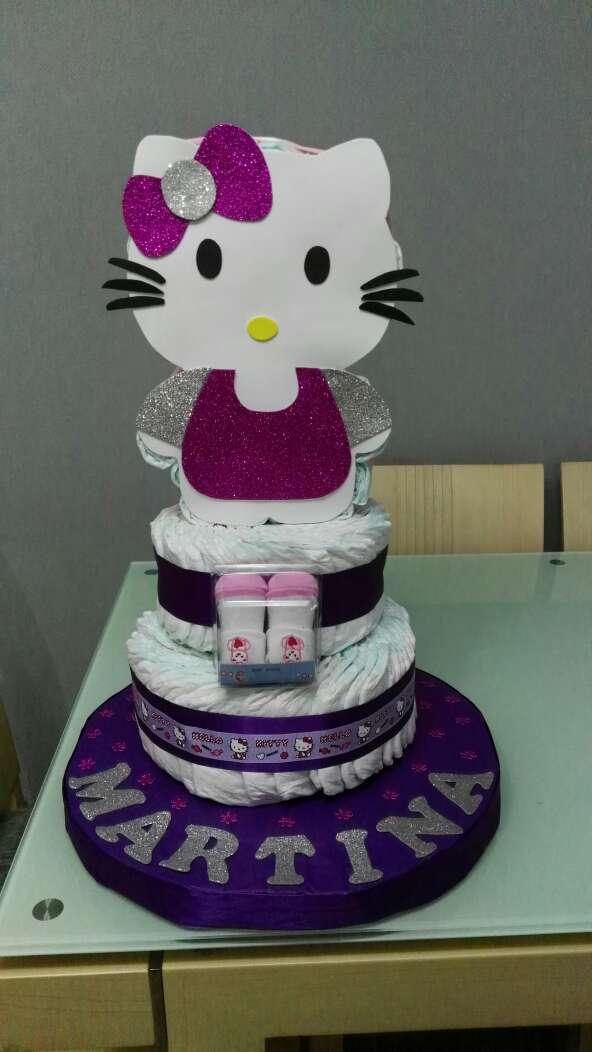 Imagen producto Tarta pañales hello kitty 2