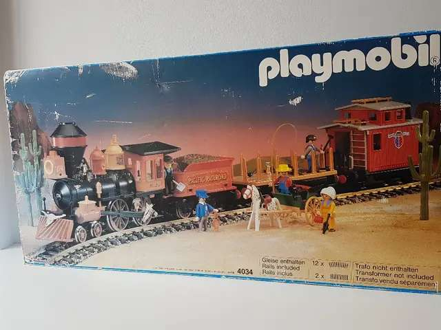 Imagen tren antiguo Playmobil
